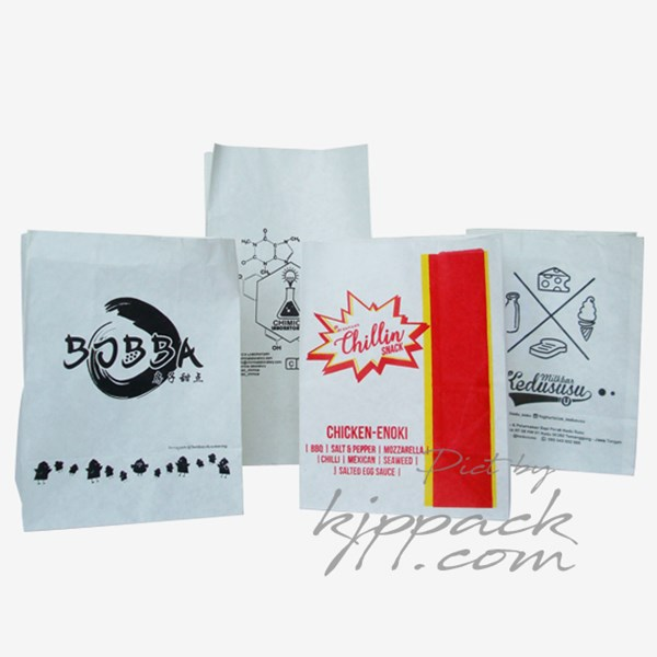 Kemasan Shilin/ Roti Boy/ Chicken crispy - Paper bag anti minyak anti lengket