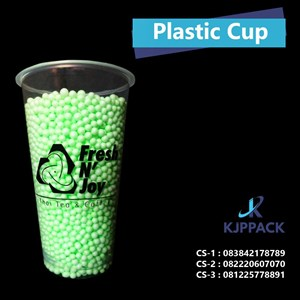 Cetak Plastik cup 22 oz sablon  1 warna BERKUALITAS