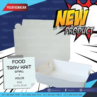 Jual Paper Tray Small - Food Tray Paper Small - Tray Piring Kertas - Piring Kertas Small