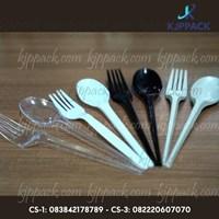 Sendok dan Garpu Plastik / Sendok Garpu Makan