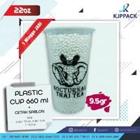 Cetak Sablon Plastic Cup - Cetak Sablon Gelas Plastik - Plastik Cup 22oz Thai Tea