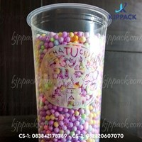 Cetak Sablon Plastic Cup - Cetak Sablon Gelas Plastik 1