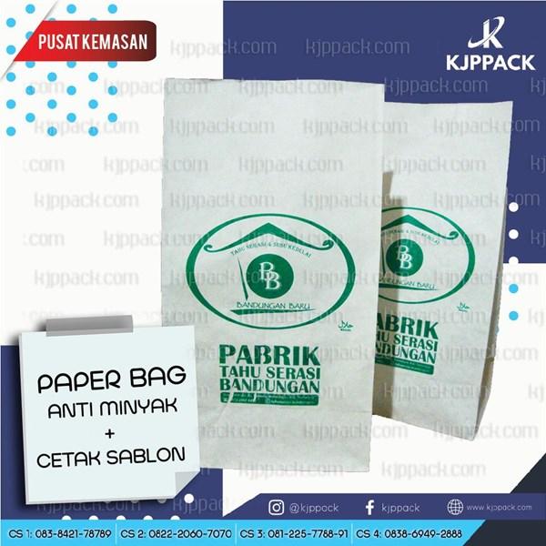 Cetak Kantong makanan atau Paper Bag ukuran 24 cm / Sablon Kantong Kertas Makanan