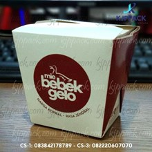 Cetak Kemasan FOOD PAIL LARGE/ CHINESE BOX LARGE/ BOX MIE