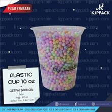Plastik CUP SABLON/ PRINT CUP PLASTIK 10oz