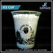 Plastik Cup Print/Gelas Plastik SAblon 12oz Kapasitas 360ml/ Bahan PP Tebal