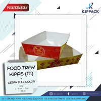 Tray Paper Medium - Food Tray Paper Medium - Piring Kertas Medium