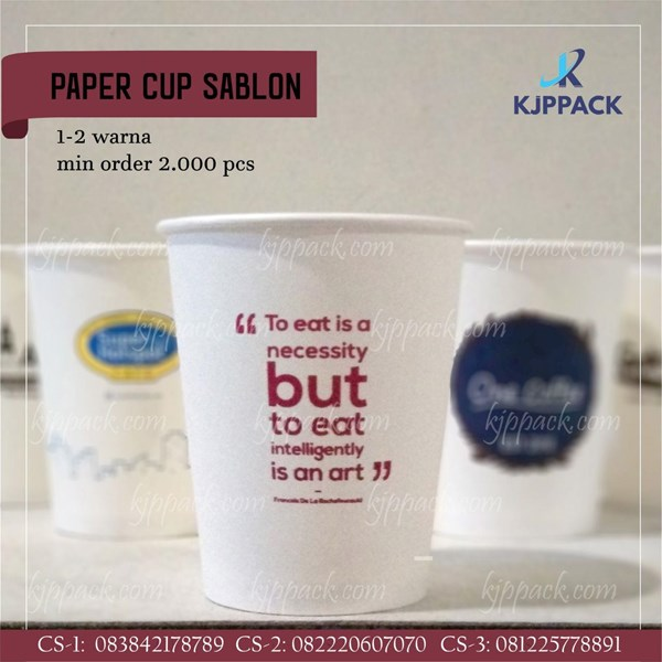 Paper Cup Sablon/ Cetak Paper Cup Semarang / Gelas Minuman Kopi