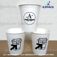 Gelas Kertas Minuman Panas/ Sablon Hot Cup Paper