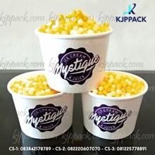 Paper Bowl Cup Ice Cream/ Gelato Cup Paper / SAblon Cup Kertas