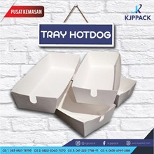 Cetak Kertas Tray Hot Dog/ Piring Kertas