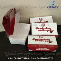 Cetak Kertas bahan Food Grade/ Box Makanan Food grade/ Lunch Box Paper Murah