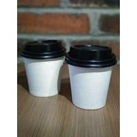 Paper Cup Kopi / Gelas Minuman Panas - Polos / sablon Logo dan tulisan Murah