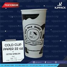 PAPER CUP COLD / PAPER CUP MINUMAN DINGIN / SABLON GELAS KERTAS / GELAS KERTAS 22oz / GELAS KERTAS MURAH / SABLON MURAH
