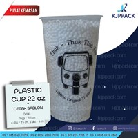 Cetak Sablon Plastik cup 22 oz TERMURAH - Plastik Cup Jumbo - Thai Tea