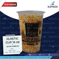 Cetak Plastik Cup 16oz - TERMURAH/ Cup Tebal/ Sablon Cup Tebal