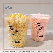 Cetak Plastik Gelas / Plastik Cup Minuman Ice / SAblon Plastik Cup Murah