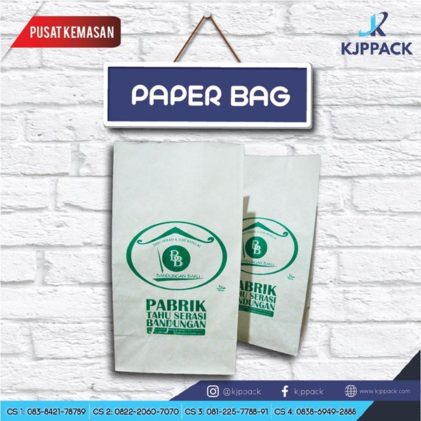 Cetak Kemasan Makanan Murah / Paper Bag Murah / Kantong Kertas Murah / Paper Bag Tahu Aci
