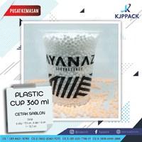 Plastik Cup Kopi - Plastik Cup Thai Thea - Sablon Logo dan Tulisan Plastik Cup
