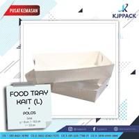 Cetak Kertas Food Grade - MODEL FOOD TRAY L - PIRING KERTAS LARGE - KAIT