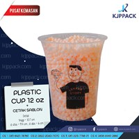Plastik Kemasan Minuman - Gelas Plastik 12oz - Printing/ Sablon Plastik Cup 12oz