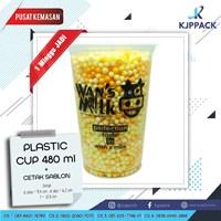 Cetak Plastik Cup - Plastik Cup Tebal - Sablon Plastik Cup
