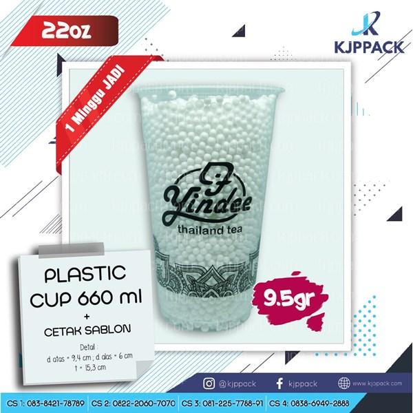 Plastik Cup 22 Oz Kapasitas 660 Mili