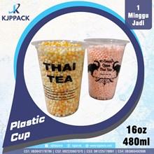 Plastik Cup 16 oz kapasitas 480 mili