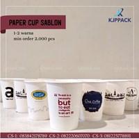 CETAK SABLON PAPER CUP HOT 10 Oz
