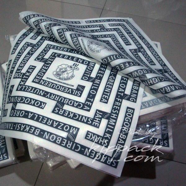 Plastik Wrapping PAPER BURGER - ALAS MAKANAN ANTI MINYAK