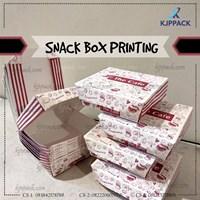 SNACK BOX PRINTING DESAIN dengan kuantity kecil - termurah di semarang - bahan Food Grade