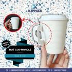 HOT CUP DENGAN HANDLE TAHAN PANAS - PAPER CUP HANDLE - PACKAGING KOPI MENARIK 1