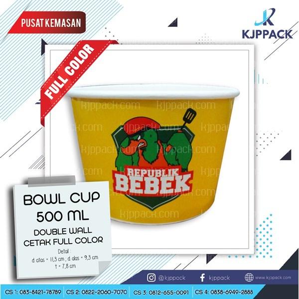 Mangkok Kertas - Paper Bowl - Soup cup packaging makanan berkuah Anti Bocor Praktis dan Higenis