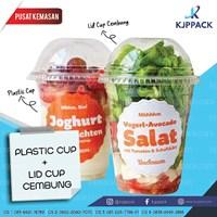 Kemasan Salad Buah - Plastik Cup Juice - Sablon Plastic Cup Salad Buah