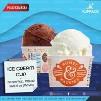 Cup Ice Cream - Cup Gelato Sablon Logo dan Tulisan Termurah