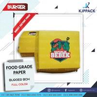 Paper Hamburger Box/ Dus Burger/ Kotak Burger - Kotak Takoyaki/ Aneka snack Bali Denpasar