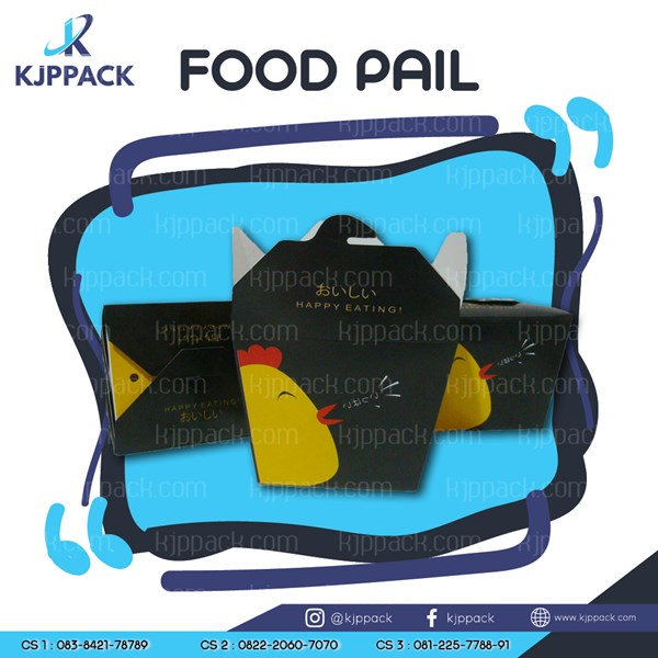 Chicken Crispy Packaging / Box Chicken Katsu / Foodpail siap saji