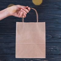 Paper Bag / Shopping Bag Bahan Craft - CRAFT PAPER BAG - Polos dan Cetak Desain