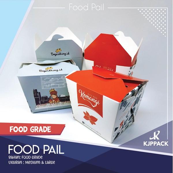 HARGA GROSIR Food Pail Uk.L - Rice Box - Paper - Kontainer - Kotak Bekal - GOSEND SEMARANG
