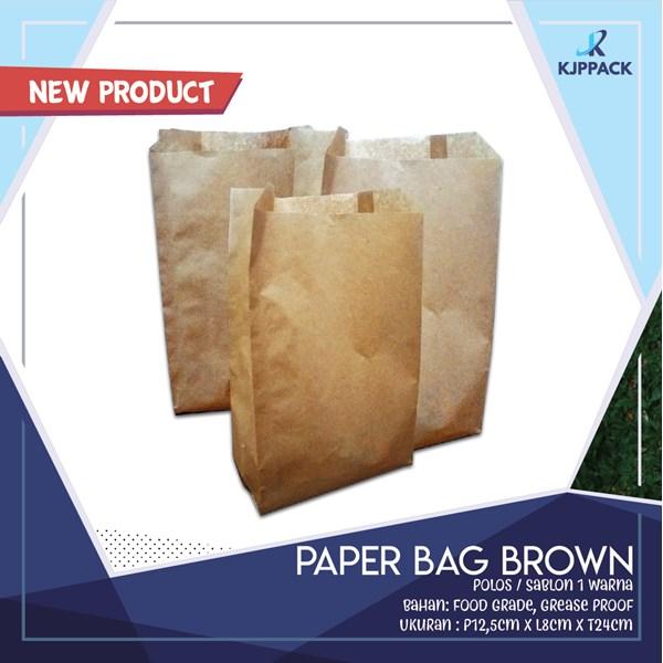 Paper Bag Brown/Paper Bag Murah/Kantong Makanan Murah