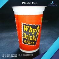 Plastik Cup Printing 3-5 Warna - Gelas Plastik Tebal cetak print - Standar Chatime Cup / Tongji