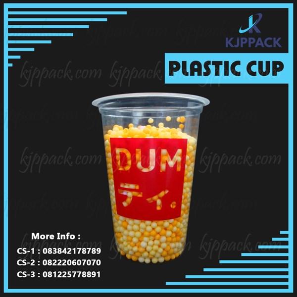 Thai tea Cup - PLastik Cup tebal untuk usaha thai tea - Bubble dan Cheese Tea