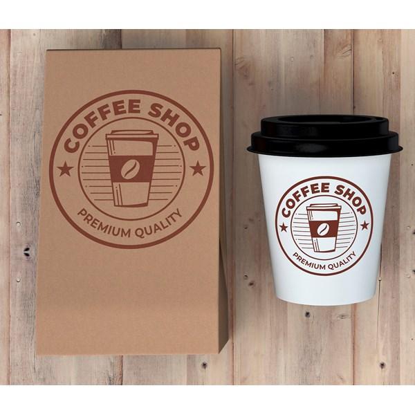 Branding Coffee Shop Desain Logo Pada Paper Cup dan Shopping Bag Jakarta Malang Bandung