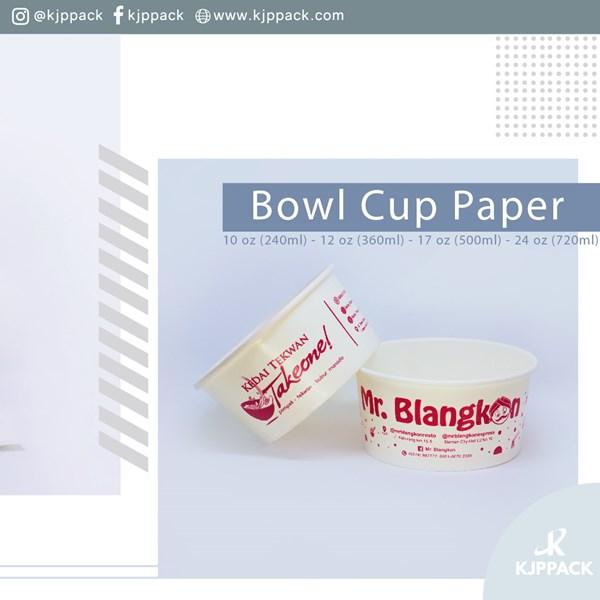 Cetak logo pada paper bowl - Mangkok kertas serbaguna untuk berbagai makanan
