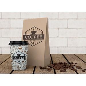 Dari wadah kopi - gelas Kopi anti panas - desain custom menarik  0