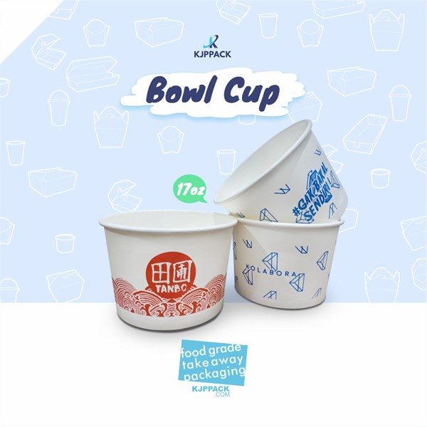 Paper bowl 17 Oz cocok digunakan untuk aneka rice bowl/aneka soup dan aneka makanan lainnya