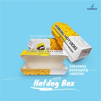 Korean Hotdog Box - Box sosis / sate - Box persegi panjang Jakarta