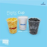 Gelas Plastik Tebal - Cetak sablon logo plastik cup Jogjakarta 1