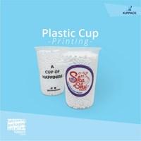 cetak printing gelas plastik bahan PP dengan logo 3-5 warna MURAH DAN BERKUALITAS 1