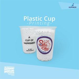 cetak printing gelas plastik bahan PP dengan logo 3-5 warna MURAH DAN BERKUALITAS